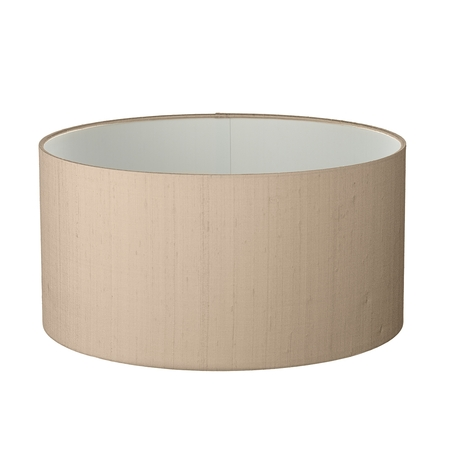 Drum Shallow 60cm Silk Shade Two Tone