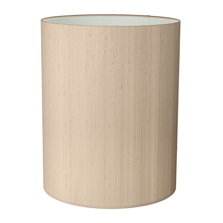 Drum Tall 25cm Silk Shade Two Tone