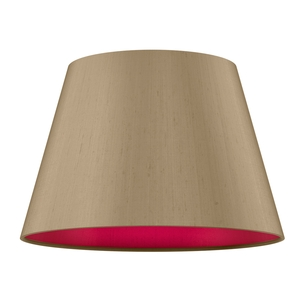Empire Drum 40cm Silk Shade Two Tone
