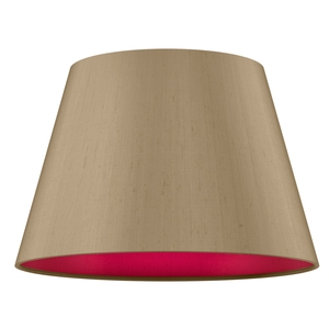 Empire Drum 45cm Silk Shade Two Tone