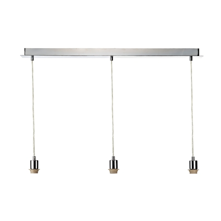3 Light Polished Chrome Suspension Bar