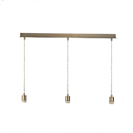 3 Light Antique Brass Suspension Bar