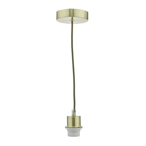 1 Light Satin Brass Suspension
