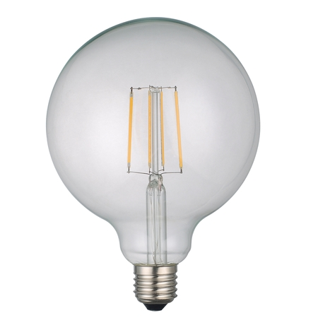 Globe Large Lamp 6w E27 LED Clear