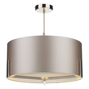 Huxley 3 Light Pendant Satin Chrome