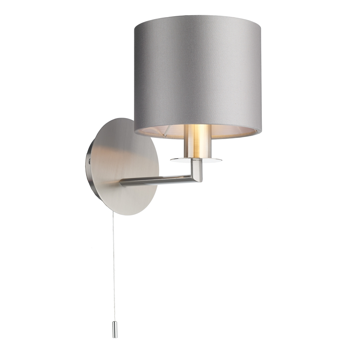 Rex Single Wall Light Satin Nickel