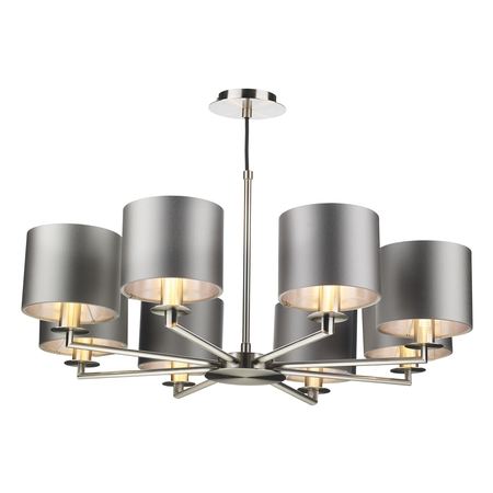 Rex 8lt Pendant Satin Nickel